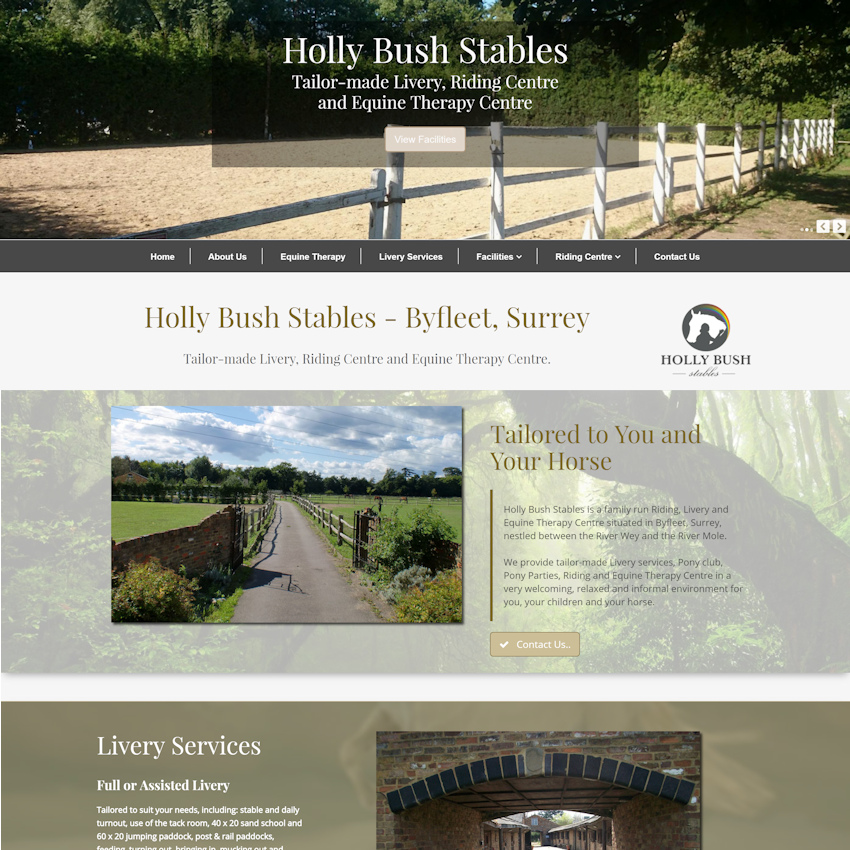 equestrian websites web design in essex and uk